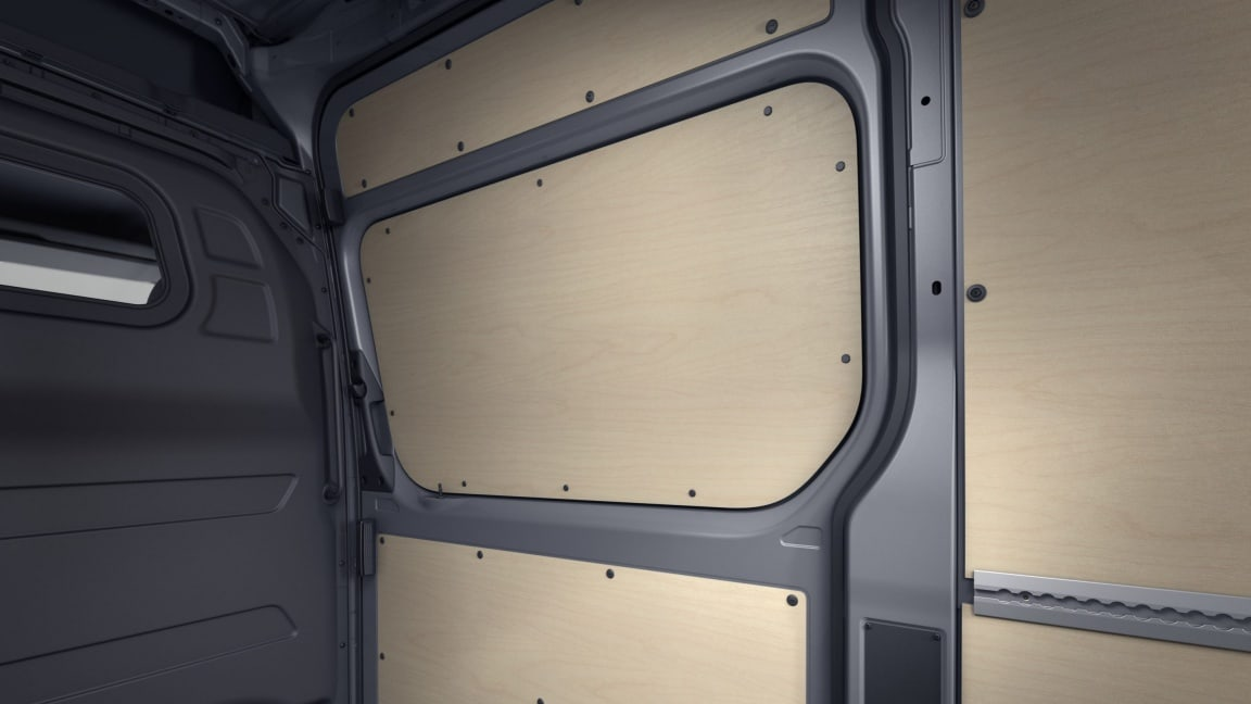 Sprinter Panel Van, interior load compartment panelling up to roof height (wood)