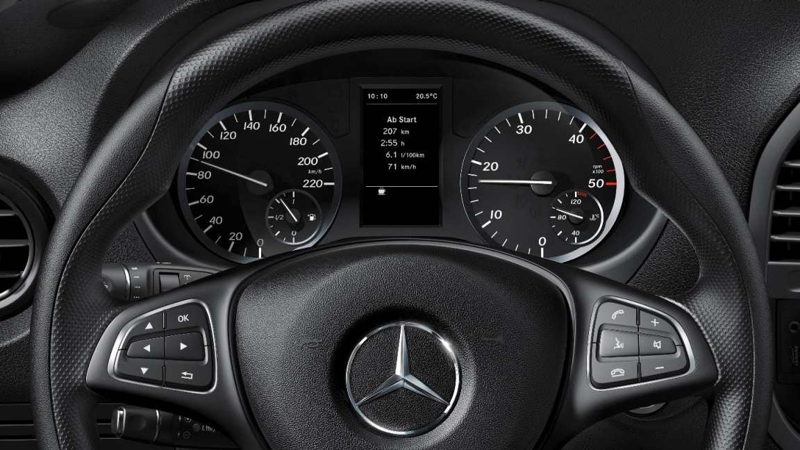 Vito Tourer, multifunction steering wheel with trip computer